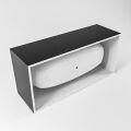 badewanne mineralwerkstoff serie freeze 180 cm außen schwarz innen weiß matt 190 liter