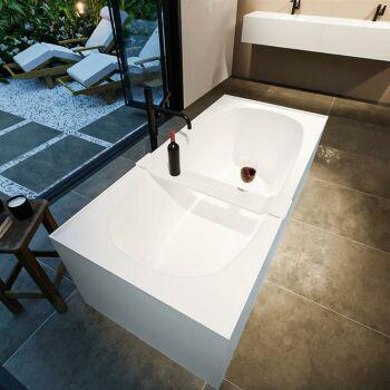 badewanne mineralwerkstoff serie freeze 180 cm außen babyblau innen weiß matt 190 liter