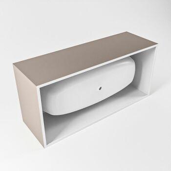 badewanne mineralwerkstoff serie freeze 180 cm außen taupe innen weiß matt 190 liter