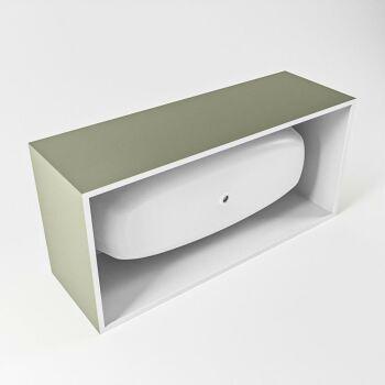 badewanne mineralwerkstoff serie freeze 180 cm außen army grün innen weiß matt 190 liter