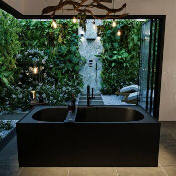 badewanne mineralwerkstoff serie freeze 180 cm schwarz...