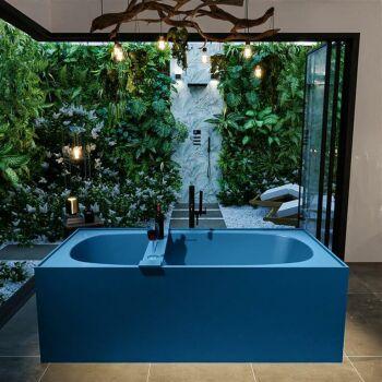 badewanne mineralwerkstoff serie freeze 180 cm blau matt...