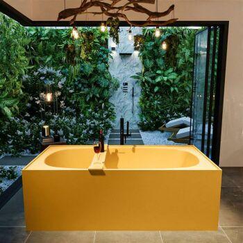 badewanne mineralwerkstoff serie freeze 180 cm gelb matt...