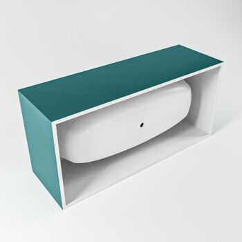 badewanne mineralwerkstoff serie freeze 180 cm ozeanblau matt 190 liter