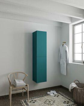 BEAM 160cm Hochschrank farbe ozeanblau mit 2 türen