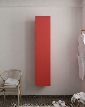 BEAM 160cm Hochschrank farbe rot mit 2 türen