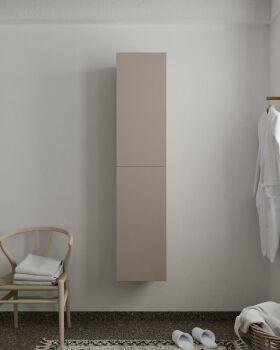 BEAM 160cm Hochschrank farbe taupe mit 2 türen