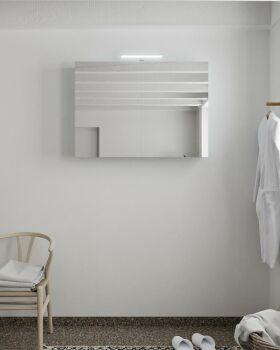 CUBB spiegelschrank 100x70x16cm farbe babyblau mit 2...
