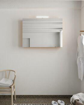 CUBB spiegelschrank 100x70x16cm farbe gelb mit 2 türen