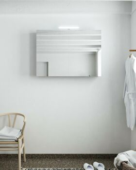 CUBB spiegelschrank 100x70x16cm farbe lavendel mit 2...