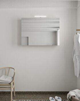 CUBB spiegelschrank 100x70x16cm farbe leinen mit 2...