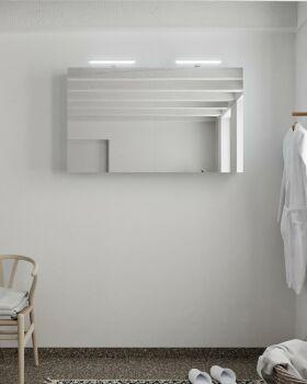 CUBB spiegelschrank 120x70x16cm farbe babyblau mit 2...