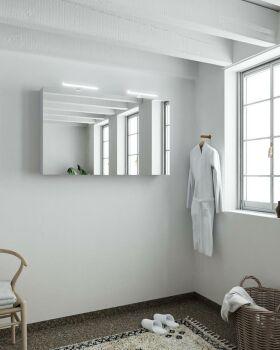 CUBB spiegelschrank 120x70x16cm farbe lavendel mit 2...