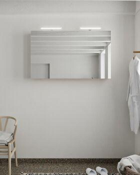 CUBB spiegelschrank 120x70x16cm farbe leinen mit 2...