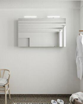 CUBB spiegelschrank 120x70x16cm farbe minze mit 2 türen