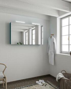 CUBB spiegelschrank 120x70x16cm farbe ozeanblau mit 2...