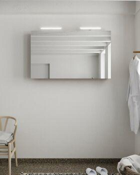 CUBB spiegelschrank 120x70x16cm farbe rost mit 2 türen