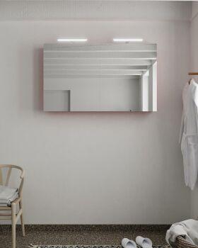 CUBB spiegelschrank 120x70x16cm farbe rot mit 2 türen