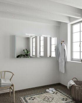 CUBB spiegelschrank 150x70x16cm farbe babyblau mit 3...