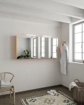 CUBB spiegelschrank 150x70x16cm farbe gelb mit 3 türen