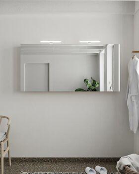 CUBB spiegelschrank 150x70x16cm farbe leinen mit 3...