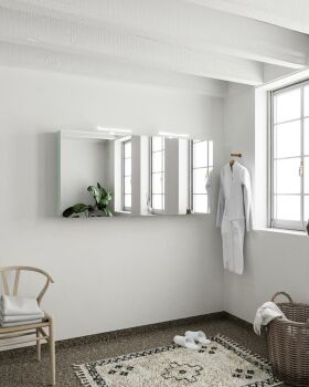 CUBB spiegelschrank 150x70x16cm farbe minze mit 3 türen