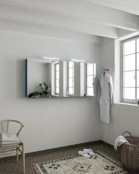 CUBB spiegelschrank 150x70x16cm farbe ozeanblau mit 3...