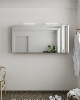 CUBB spiegelschrank 150x70x16cm farbe rost mit 3 türen