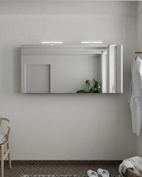 CUBB spiegelschrank 150x70x16cm farbe taupe mit 3 türen