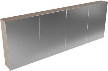 CUBB spiegelschrank 200x70x16cm farbe taupe mit 4 türen