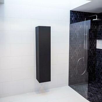 BEAM 160cm Hochschrank farbe schwarz mit 2 türen