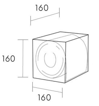 toilettenpapierhalter solid surface würfel schwarz