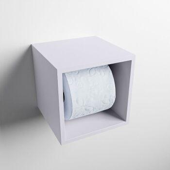 toilettenpapierhalter solid surface würfel lavendel