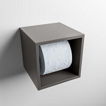 toilettenpapierhalter solid surface würfel dunkelgrau