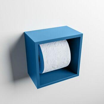 toilettenpapierhalter solid surface würfel blau
