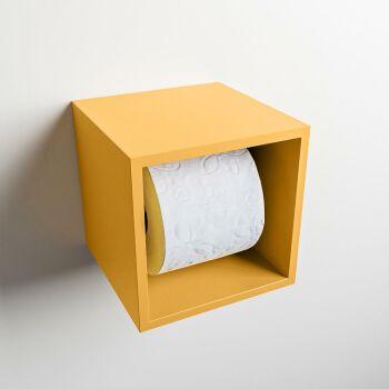 toilettenpapierhalter solid surface würfel gelb
