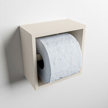toilettenpapierhalter solid surface halbe würfel leinen