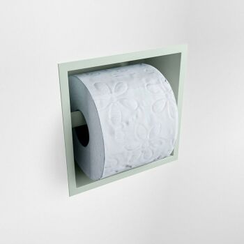 toilettenpapierhalter solid surface halbe würfel minze