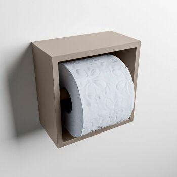 toilettenpapierhalter solid surface halbe würfel taupe