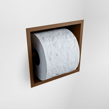 toilettenpapierhalter solid surface halbe würfel rost