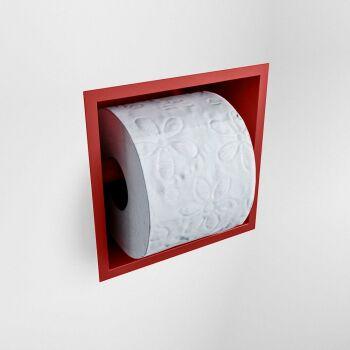 toilettenpapierhalter solid surface halbe würfel rot