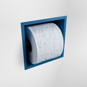 toilettenpapierhalter solid surface halbe würfel blau