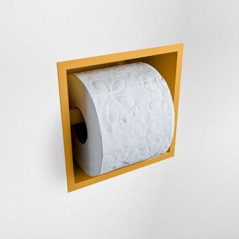 toilettenpapierhalter solid surface halbe würfel gelb