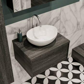 aufsatzwaschbecken oval keramik weiß barco 35x41cm