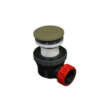 klick siphon solid surface rund army grün