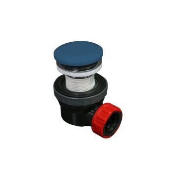 klick siphon solid surface rund blau
