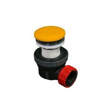 klick siphon solid surface rund gelb