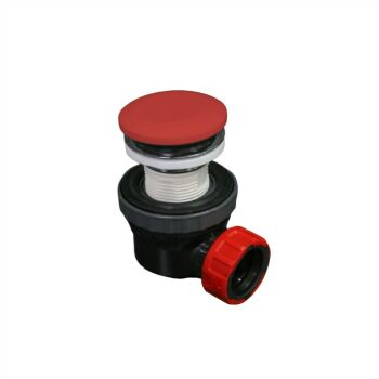 klick siphon solid surface rund rot