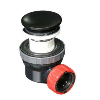 klick siphon solid surface rund schwarz