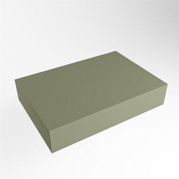 aufsatzplatte l freihängend solid surface 60 cm army...